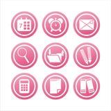 Rosafarbenes Büro bearbeitet Zeichen vektor abbildung