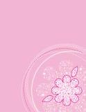 Rosafarbenes Blumen-Muster Stockfoto