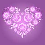 Rosafarbenes Blumeninneres Stockfoto