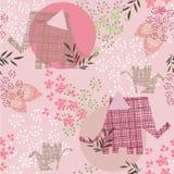 Rosafarbenes Blumenmuster Stockbild
