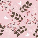 Rosafarbenes Blumenmuster Stockfotografie