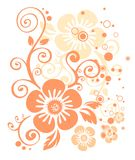 Rosafarbenes Blumenmuster Lizenzfreie Stockfotos