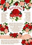 Rosafarbenes Blumenplakat des Vektors für Frühlings-Saison Lizenzfreies Stockfoto