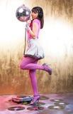 Rosafarbenes Disco-Mädchen Stockbilder