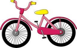 Rosafarbenes Fahrrad vektor abbildung