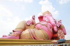 Rosafarbenes ganesha Statue wat Samarn Stockbilder