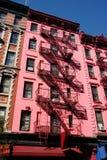 Rosafarbenes Gebäude in SoHo, NYC lizenzfreie stockfotografie