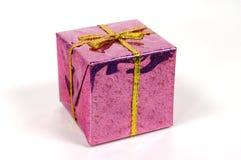 Rosafarbenes Giftbox Stockbilder