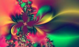 Rosafarbenes grün-blaues abstraktes Hintergrund-Muster Stockfotos