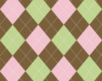 Rosafarbenes, grünes und braunes argyle Stockfoto