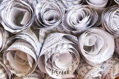 Rosafarbenes Handwerk der Zeitung Stockbilder