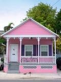Rosafarbenes Haus Stockbilder
