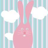 Rosafarbenes Kaninchen Stockfotografie