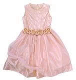 Rosafarbenes Kleid mit Rosen Stockbilder