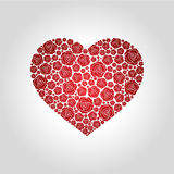 Rosafarbenes Logo des Herzens Stockbilder