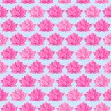 Rosafarbenes Lotos-Blumen-nahtloses Muster Lizenzfreie Stockfotos