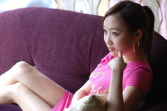Rosafarbenes Mädchen Lizenzfreies Stockbild