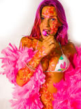 Rosafarbenes Mädchen Stockfotografie