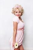Rosafarbenes Mädchen Lizenzfreies Stockfoto