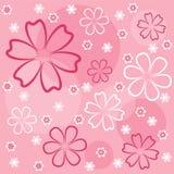 Rosafarbenes mit Blumennahtloses. Lizenzfreie Stockbilder