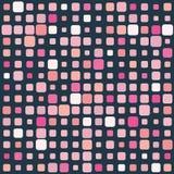 Rosafarbenes Mosaik auf dunklem Hintergrund stock abbildung
