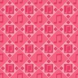Rosafarbenes Muster der musikalischen Anmerkungen lizenzfreie abbildung
