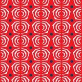 Rosafarbenes Muster der nahtlosen Zusammenfassung auf rotem Hintergrund Stockbilder