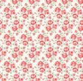 Rosafarbenes Muster des schäbigen Chic Stockbild