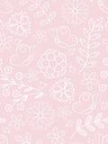 Rosafarbenes nahtloses mit Blumenmuster Stockfotos