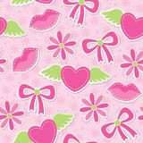Rosafarbenes nahtloses Muster Lizenzfreie Stockbilder