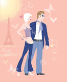 Rosafarbenes Paris Stockbilder