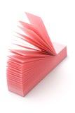 Rosafarbenes schmales Post-It Lizenzfreies Stockbild