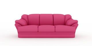 Rosafarbenes Sofa auf weißem Hintergrund Lizenzfreies Stockbild