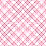 Rosafarbenes Streifen-Plaid Stockbild