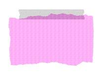 Rosafarbenes strukturiertes Papier - zerrissen und auf Band aufgenommen Lizenzfreies Stockfoto