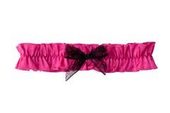 Rosafarbenes Strumpfband (mit Ausschnitts-Pfad) Lizenzfreie Stockbilder