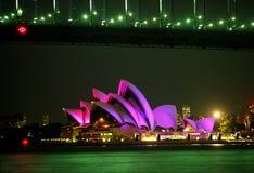 Rosafarbenes Sydney-Opernhaus Lizenzfreie Stockfotos