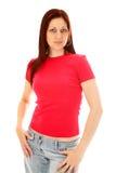 Rosafarbenes T-Shirt lizenzfreie stockbilder