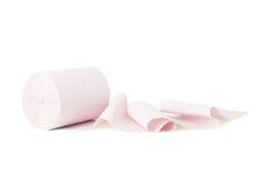 Rosafarbenes Toilettenpapier Lizenzfreie Stockbilder
