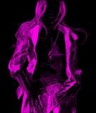 Rosafarbenes Traummädchen Stockfotos