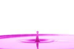 Rosafarbenes Wasserspritzen Lizenzfreies Stockfoto