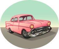 Rosafarbenes Weinlese-Auto Stockbild