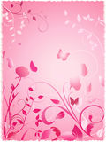 Rosaleda floral rosada Fotografía de archivo