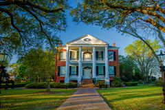Rosalie mansion, natchez, mississippi. Built in 1823, the historic rosalie mansion served as the union headquarters during the american civil war for the natches Royalty Free Stock Photography