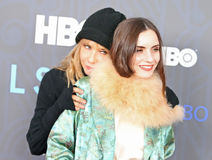 Rosanna Arquette und Zoe-Blau Sidel Lizenzfreies Stockfoto