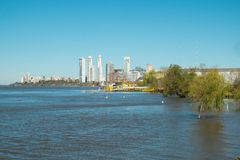 Rosario. On the bank of Parana river, Argentina Royalty Free Stock Photography