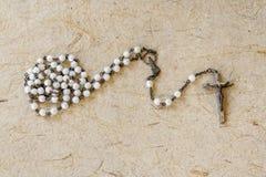 Rosario católico original Foto de archivo libre de regalías