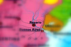 Rosaio, Santa Fe, Argentina - South America. Rosario city in the province of Santa Fe, in central Argentina Royalty Free Stock Photos