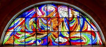 Rosario Fatima Portugal di Mary Jesus Stained Glass Basilica Lady Fotografia Stock