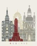 Rosario horisontaffisch stock illustrationer